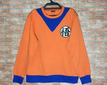Rare!!! Dragon Ball Z Goku Training V Neck Sweatshirt Pullovers Jacket Orange