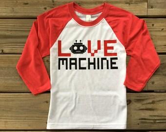 Boy's Love Machine Valentines day shirt