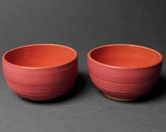 Hand Made Ceramic Sauce Bowls, Dessert Bowls, Dipping Bowls, Set of 2