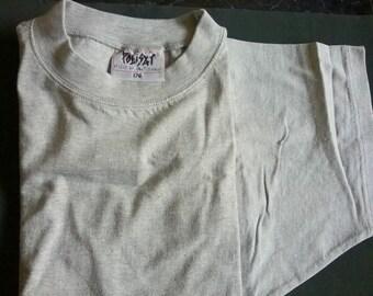 T-shirt grey size L / 176 unisex adult women men youth XS S M L measurements vintage