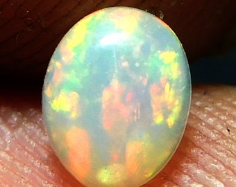 Multi Fire Opal Natural Ethiopian Opal Loose Gemstone Cabochon Opal Cab Gems,,,Cts 0.20,,Size 4x5x3 MM,Pct,1175