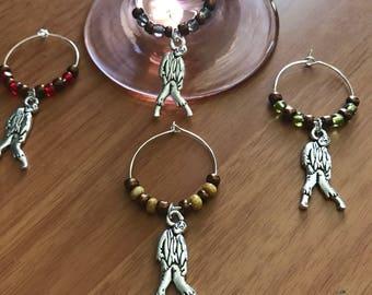 Zombie wine glass charms (set of 4)