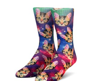 Galaxy Cat Socks