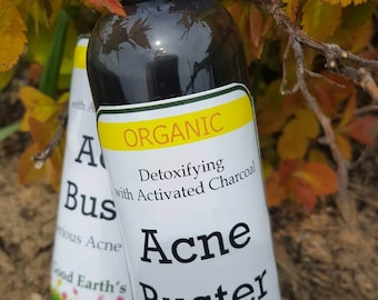 Facial Acne Buster, organic, women or men's facial cleanser essential oils for acne, body wash, tea tree