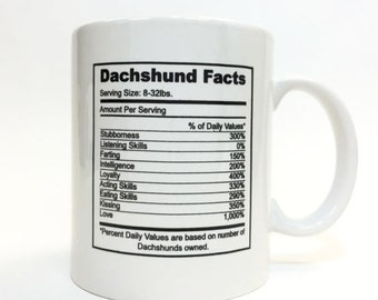 Dachshund Facts Mug