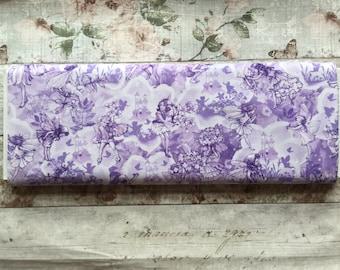 Michael Miller Fabric. Lilac Fairies Fairy printed cotton.