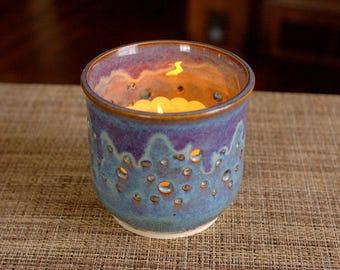 Handmade Ceramic Candleholder - Pottery Candleholder