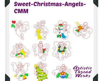 Sweet-Christmas-Angels-CMM ( 10  Machine Embroidery Designs from ATW )