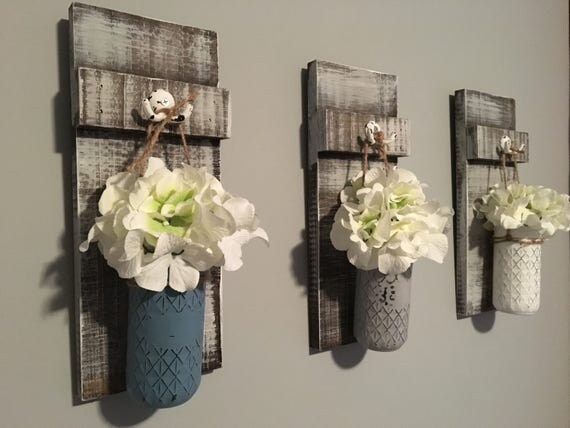 hanging mason jar lanters, mason jar lanterns, flower lanterns, farmhouse, farmhouse decor, lantern decor, rustic lanterns, hanging jar