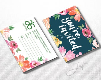 Arbonne Party Invitation 01 Double Sided – Instant Download – DIGITAL FILES