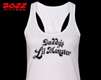 Daddy's Lil' Monster shirt, Daddys Little Monster, Womens Tank Top, FAST SHIPPING.