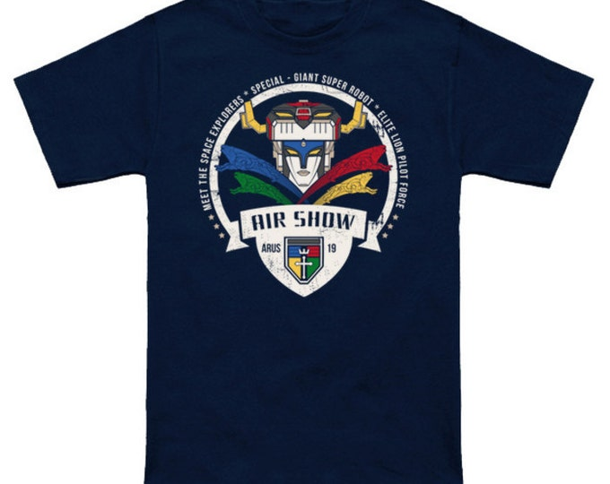 Arus Air Show VOLTRON SHIRT Legendary Defender of the Universe Lions Pop Culture Funny Geek/Nerd T-Shirt Anime