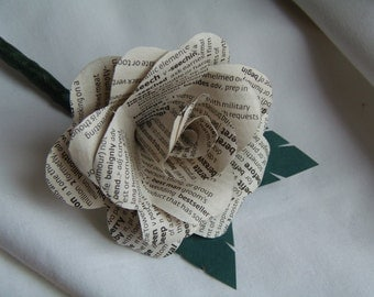 Simple Book Rose Buttonhole, Boutonniere. English Dictionary or classic authors available.
