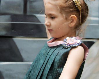 Classic dress, pleated dress, birthday dress, flower girl dress