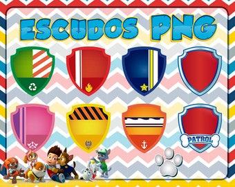 Paw shields Patrol HD + slats PNG