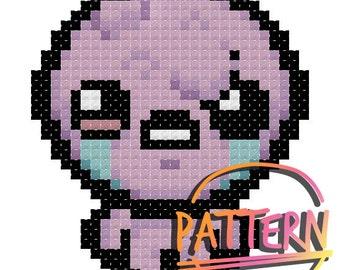 Binding of Isaac Lust Cross Stitch Pattern