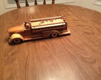 Wood vintage fire truck