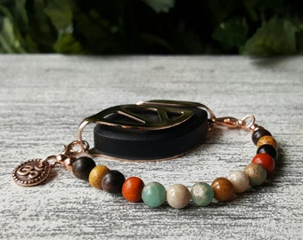 Grounding Earth Mala Bracelet for Bellabeat LEAF