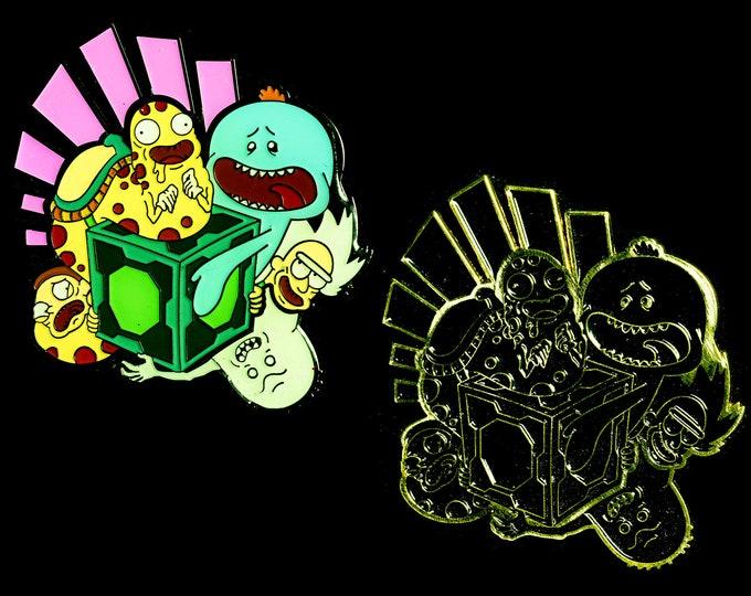 Mr. Meeseeks Lapel Pin - Meeseeks and Destroy - Rick and Morty (set of 2)