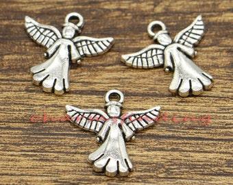 20pcs Angel Charms Antique Silver Tone 20x20mm cf0895