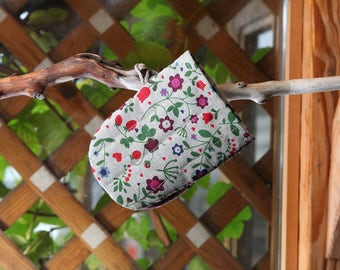 Linen Cotton Oven Glove Flowers, Oven Mitt With Flowers, Linen Kitchen Glove, Pot Holder, Cooking Glove