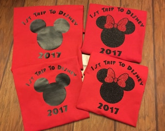 First trip to disney shirt, family disney shirts, family disney vacation shirts, family disney world shirts, family Mickey Mouse shirts