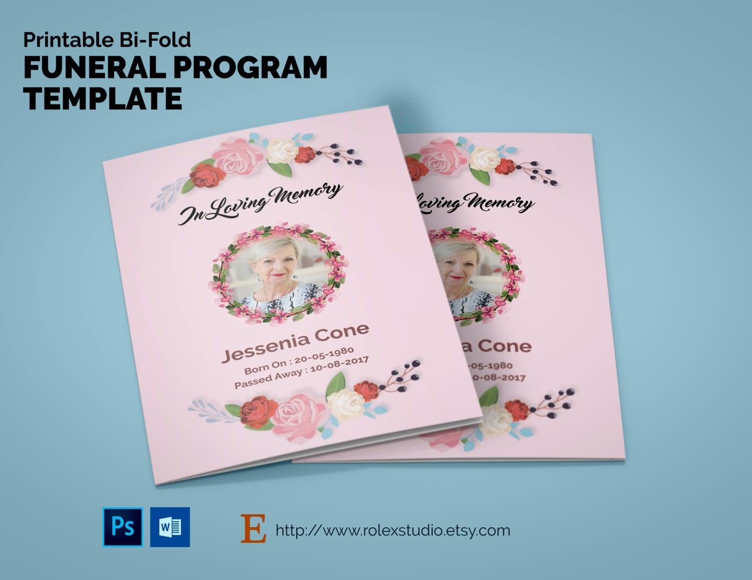 free editable funeral program template microsoft word - printable bi fold funeral program template obituary template