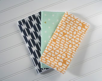Gender Neutral Burp Cloths | Tribal Burp Cloths | Burp Rags | Baby Gifts | Gender Neutral Baby | Ready to Ship