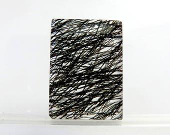 Black Rutile Rectangle Shape Briolite Cut Jewelry Making Semi Precious Rutiled Gemstone 20X15X5mm 16Cts B-1005