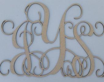 vine letter monogram