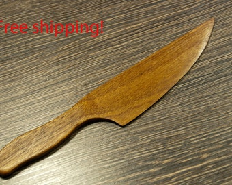 Free shipping! Mahogany wood hand carved knife. Best for wedding cake!