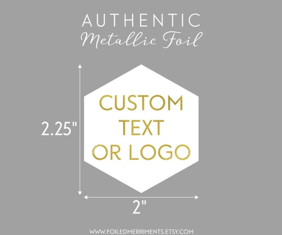 Geometric Gold Foil Sticker Gold Foil Logo Sticker Custom - Custom gold foil stickers
