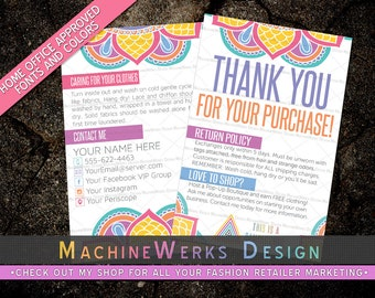 Independent Fashion Retailer Thank You Cards • IFR Care Cards • Home Office Approved Fonts and Colors • Marketing Materials • MachineWerks