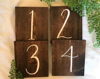 Wedding Table Numbers| Wooden Table Numbers| Table Numbers| Wedding Signs| Rustic Wedding Decor| Table Numbers