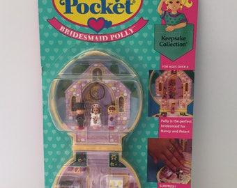 Vintage Polly Pocket Bridesmaid Polly 1993 by Bluebird Toys NIB/MOC NEW