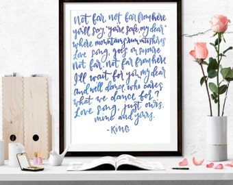 Love Song|King|Quote|Digital Download|Printable