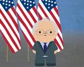 Bernie Sanders kawaii art...