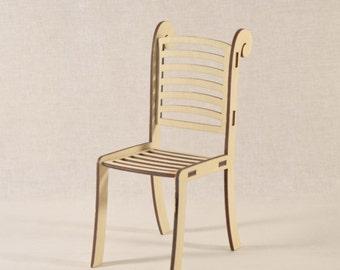 Dollhouse chair/Doll chair/Dollhouse furniture/Miniature chair/Dollhouse chairs/Vintage chairs/Barbie chair/ barbie furniture/Chair 1 6,1 12