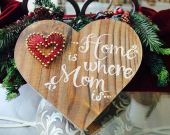 Home is Where Mom is Wooden Sign