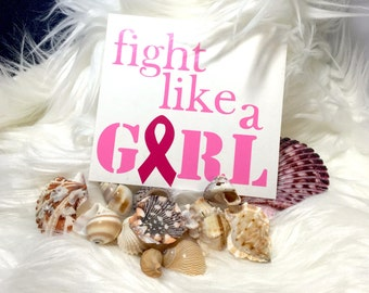 Fight like a girl - Breast Cancer Vinyl Decal