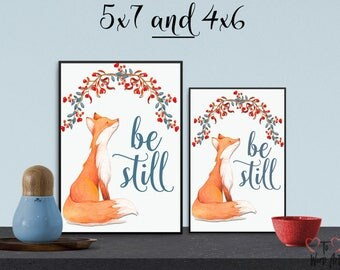 Be Still in 4x6 and 5x7 Desktop sizes
