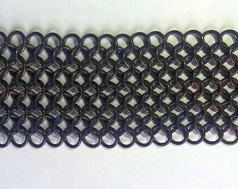 Euro 4-in-1 chainmaille bracelet - Wide copper bracelet - fully handmade