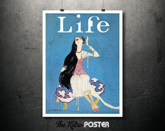 Life Magazine - John Held, 1924 - Fashion, Fashion Illustration, Fashion Print, Fashion Poster, Advertising, Gift Woman, Fashion Art