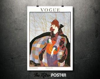 Vogue - January 1919 - Fashion, Fashion Illustration, Vogue Print, Vogue Poster, Fashion Poster, Advertising, Gift Woman, Fashion Print