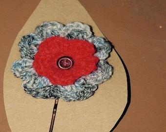 Crochet Flower Bobby Pins/Girls Hair Accessory