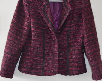 Code FOREVER15: 15% + reduced SHIPPING! Blazer/Jacket vintage 90's pink/Black 6