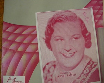 Sheet Music Hurry Home Kate Smith Music Sheet Antique Vintage Original