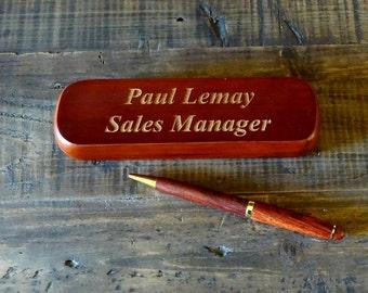 Rosewood Pen, Engraved Pen, Engraved Pen Set, Custom Pens, Pens, Wooden Pens, Ink Pens, Personalized Pens, Pen Set,  Pen Case