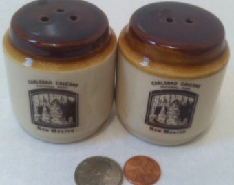 Vintage Salt and Pepper Shakers, Carlsbad Taverns, New Mexico, National Park, Sports Stadium, Salt, Pepper, Shakers, Table Ware, Kitchenware