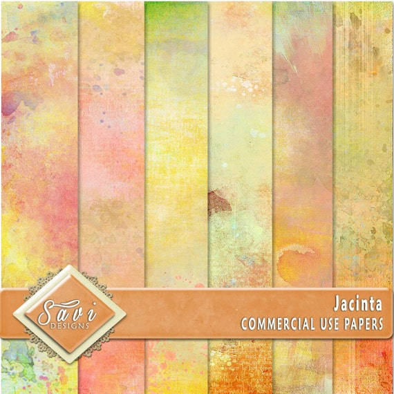 CU Commercial Use Background Papers set of 6 for Digital Scrapbooking or Craft projects JACINTA Papers, Designer Stock Papers